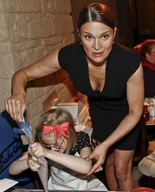 Mahulena Bočanová s dcerou.