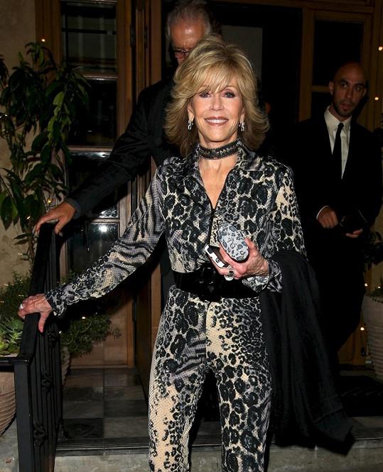 Fonda je výrazně štíhlejší, než bývala v mládí.