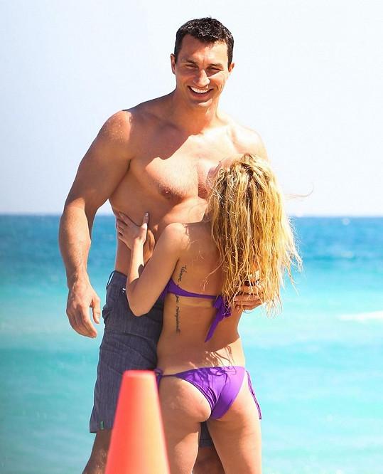 Hayden se svým Vladimirem Kličkem.