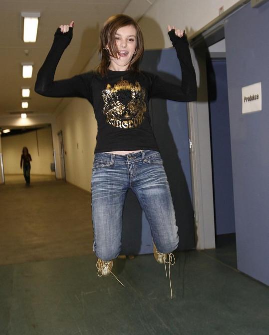 Ewa Farna ještě jako puberťačka.