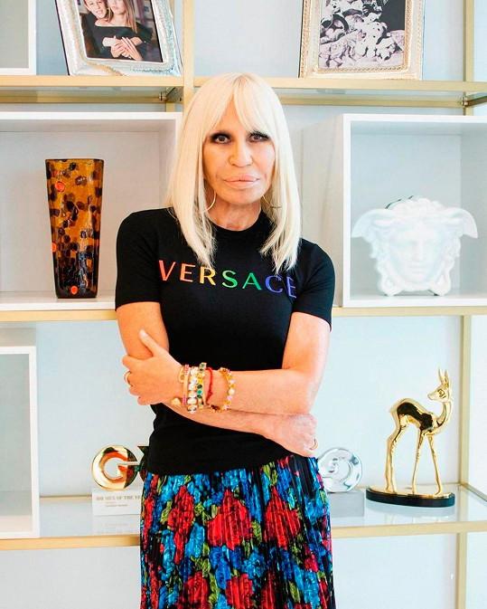 Donatella Versace dohlížela na přípravy i průběh módní show.