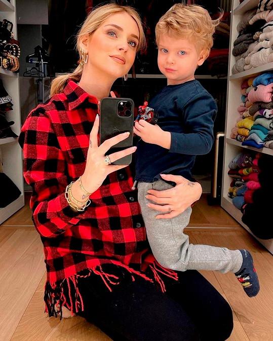 Chiara Ferragni se tříletým synem Leem. Její děti budou narozeniny slavit jen pár dní po sobě.