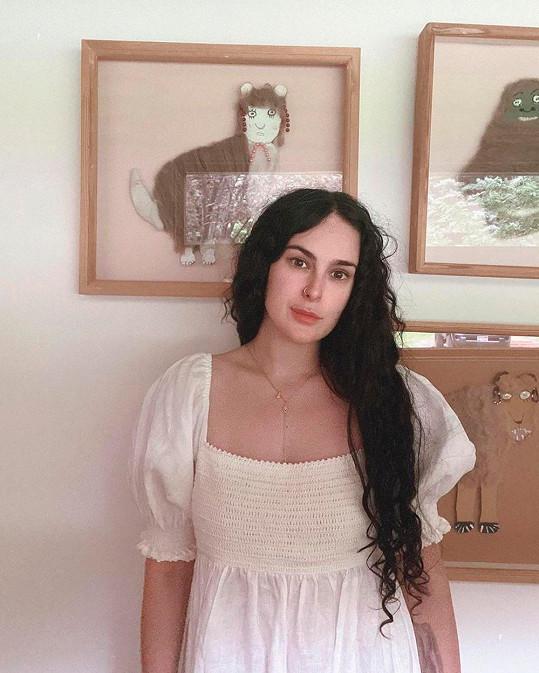 Nejstarší dcera herců Demi Moore a Bruce Willise Rumer oslavila 32. narozeniny.