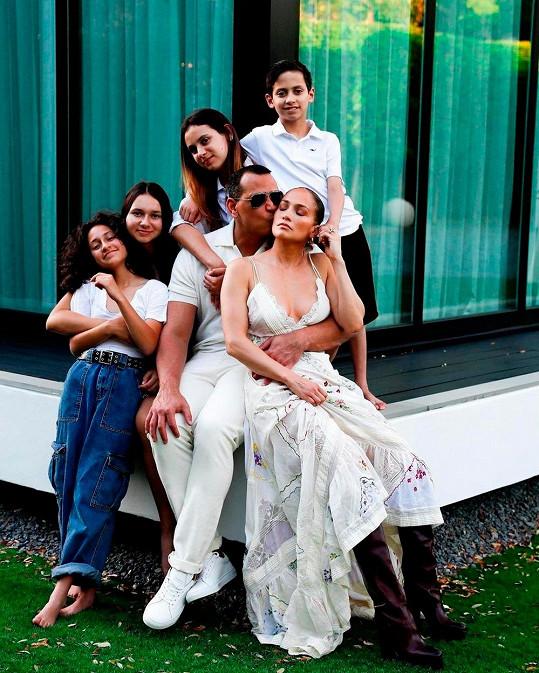 Alex Rodriguez a Jennifer Lopez s dětmi