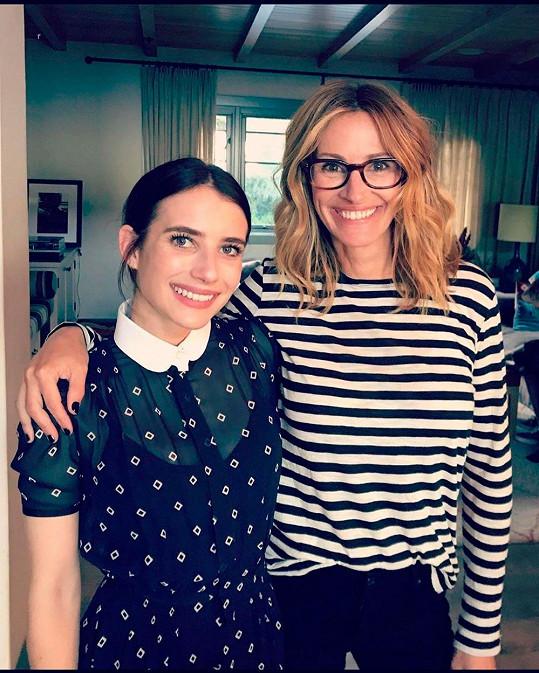 Se slavnou tetou má Emma krásný vztah.