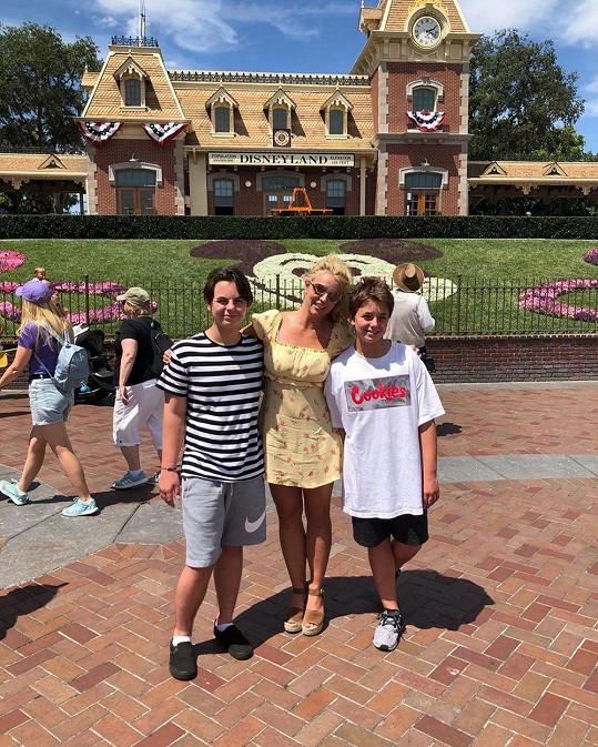 Britney Spears se svými syny