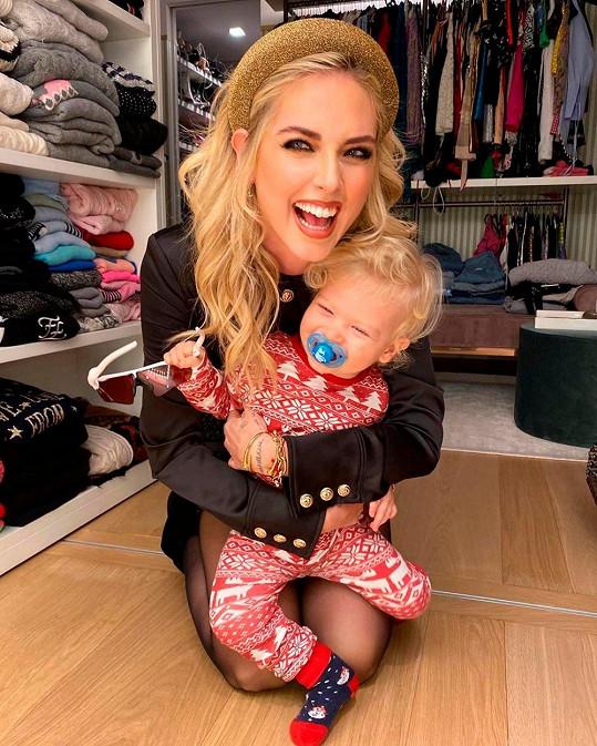 Chiara před téměř dvěma lety porodila své první dítě, syna Leona.