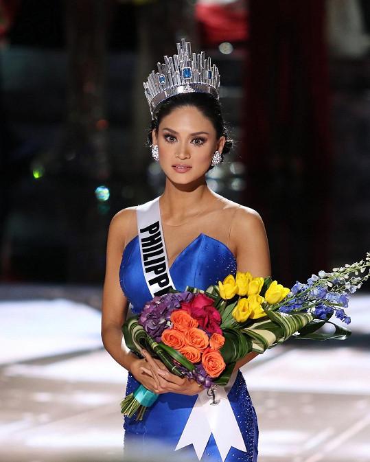 Pia zpočátku nevěřila, že Miss Universe je skutečně ona.