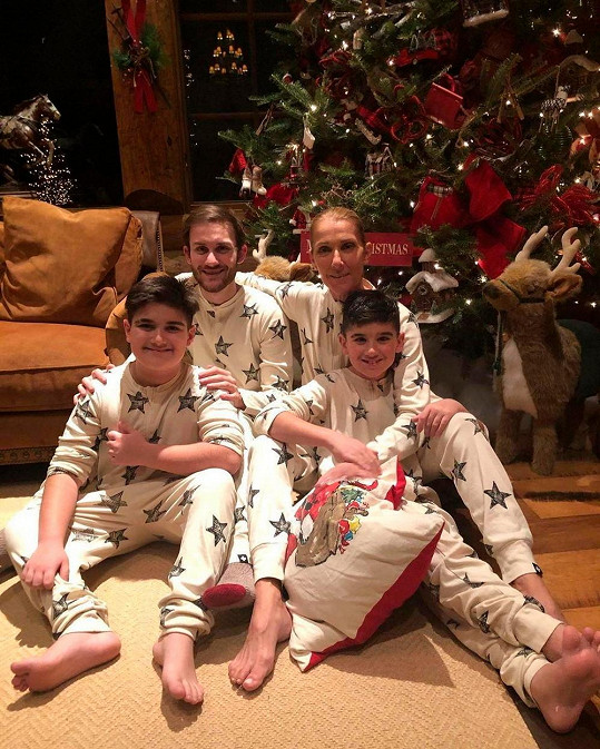 Céline Dion se syny Reném Charlesem, Nelsonem a Eddym