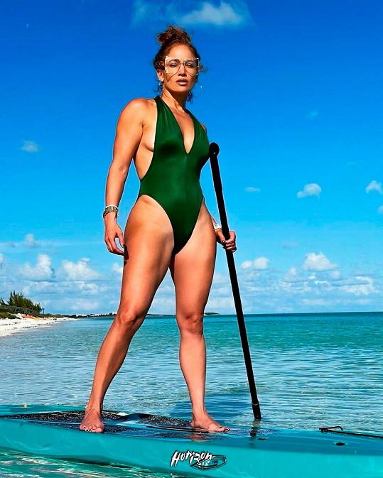 Jennifer Lopez na dovolené na ostrovech Turks a Caicos