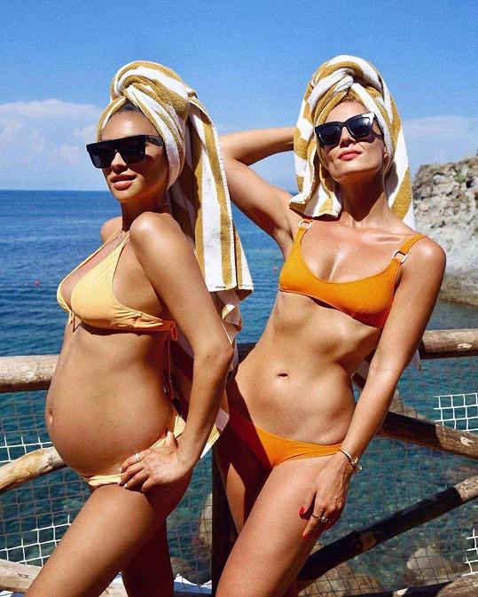 S kamarádkou na dovolené v Itálii