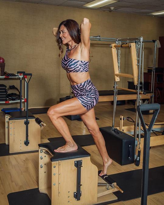 Alejandra Labastida-Shapiro miluje sport, hlavně pilates.