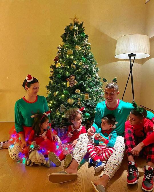 Cristiano s rodinou o svátcích