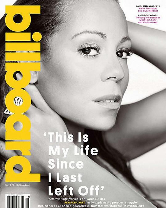 Mariah zdobí i květnové číslo časopisu Billboard.
