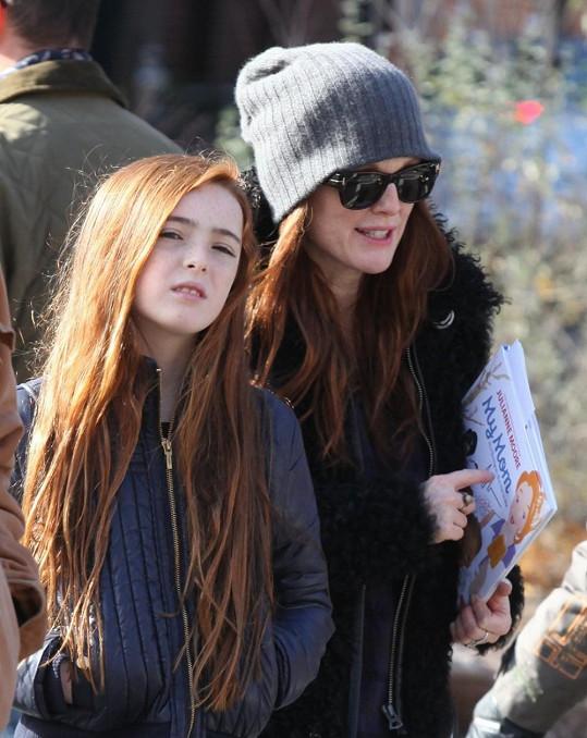 Julianne Moore s dcerou Liv