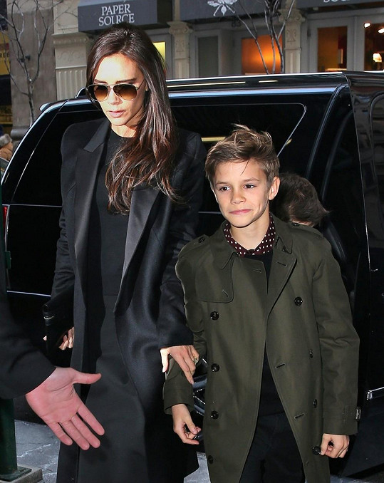 Victoria Beckham se synem Romeem