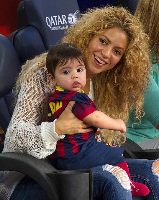Shakira a Milan podpořili tatínka.