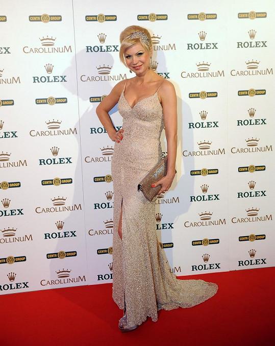Natali Ruden na Rolex párty, která se v Karlových Varech konala v pondělí.