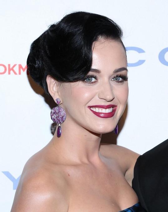 Katy Perry si jinak potrpí na výrazné líčení.