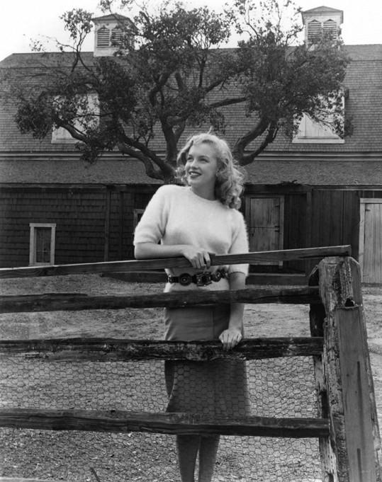 Marilyn na propagačních fotkách Foxu (1949).