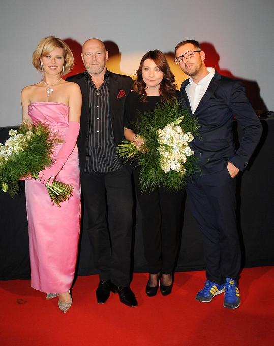 Modelka děkovala organizátorům, kteří přivezli výstavu Marilyn do Prahy.