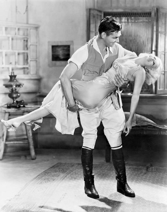 Nejčastějším partnerem Jean byl Clark Gable.