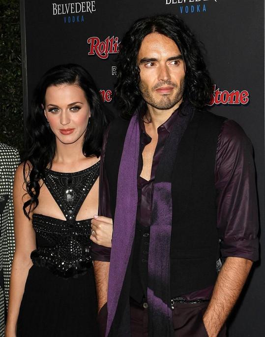 Katy Perry a její bývalý muž Russell Brand
