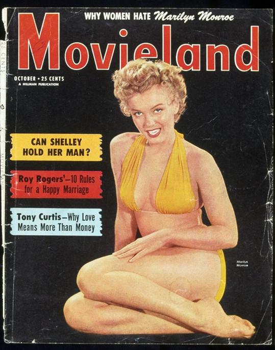 Marilyn Monroe na titulní straně filmového magazínu Movieland.