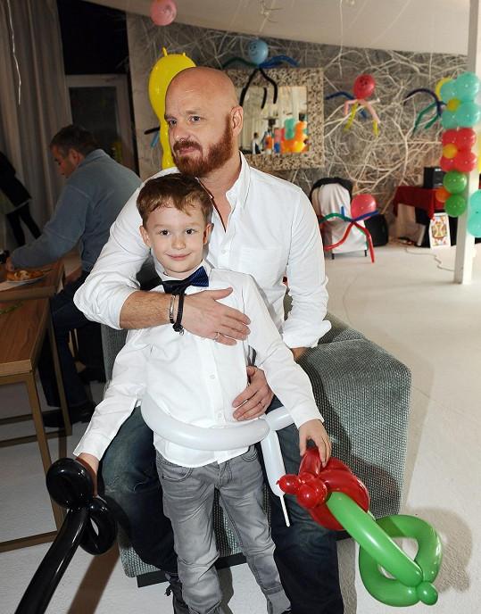 Karel Vágner se synem Kájou
