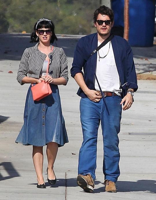 Katy Perry se snoubencem Johnem Mayerem
