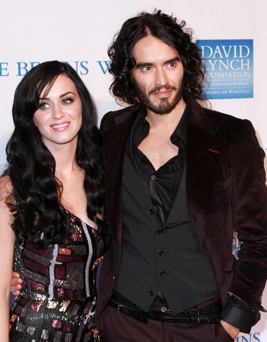 Russell Brand a jeho bývalá manželka Katy Perry.