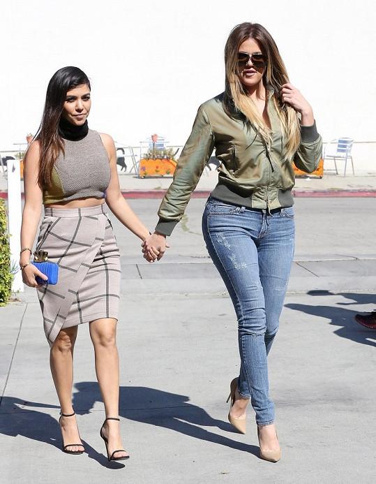 Khloé a Kourtney Kardashian