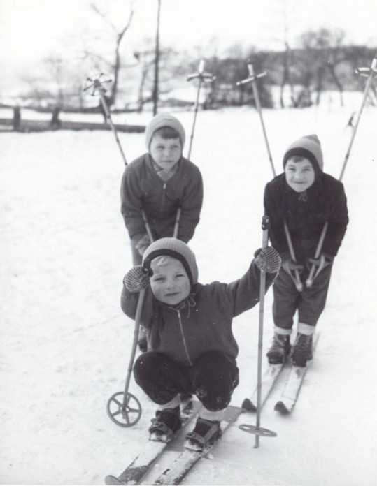 Martin Maxa poprvé na lyžích.