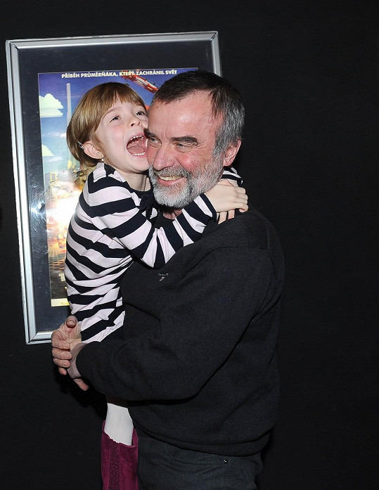 Jaroslav Brabec si odpoledne s dcerou užil.