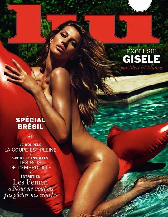Gisele Bündchen pro gay magazín Lui.