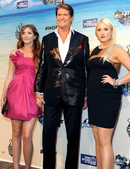 David Hasselhoff s dcerami Hayley (vpravo) a Taylor Anne