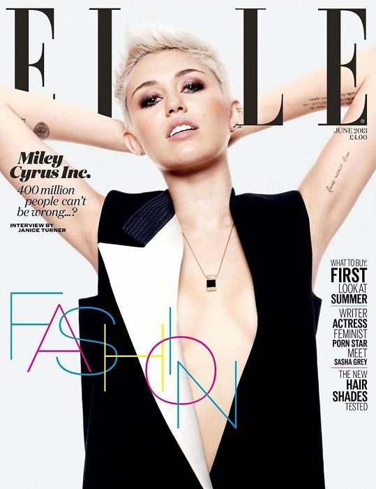 Miley zdobí rovněž titulku Elle.
