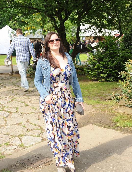 Herečka přišla na Prague Food Festival podpořit charitativní projekt, jehož je jednou z patronek.