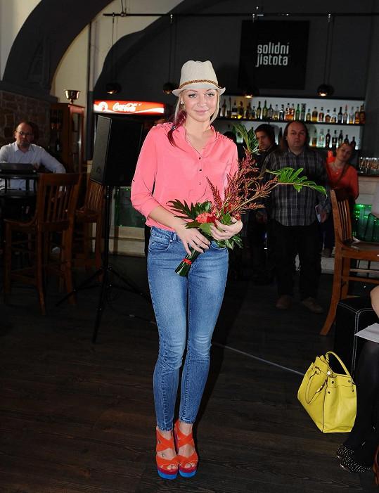 Markéta Konvičková mohla předvést figuru v upnutých džínách.