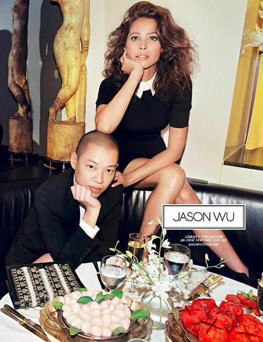 Topmodelka s návrhářem Jasonem Wu