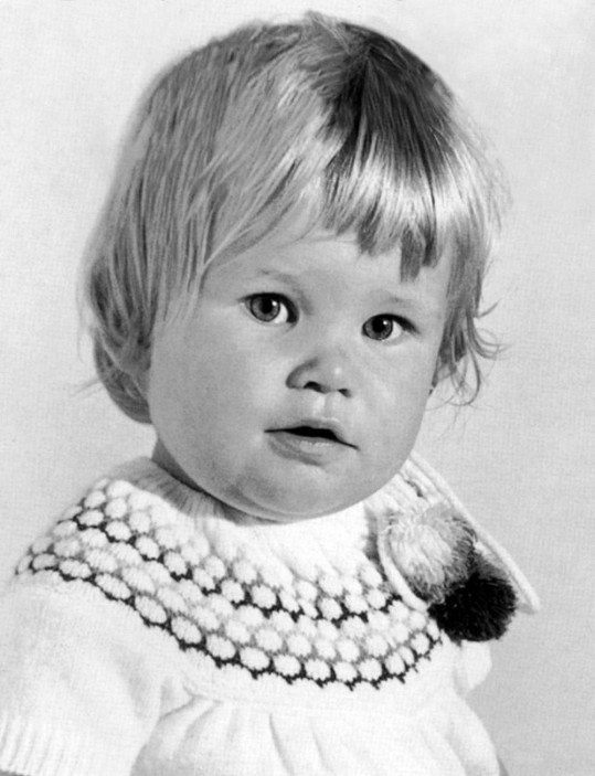 Claudia Shiffer ve věku tří let.