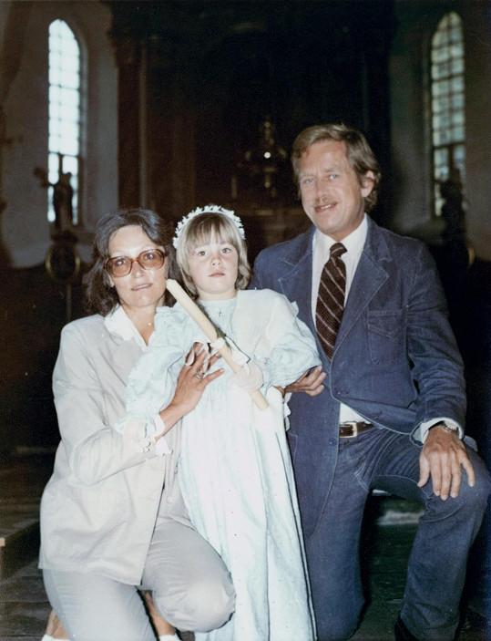 Kmotrem Kateřiny byl Václav Havel.