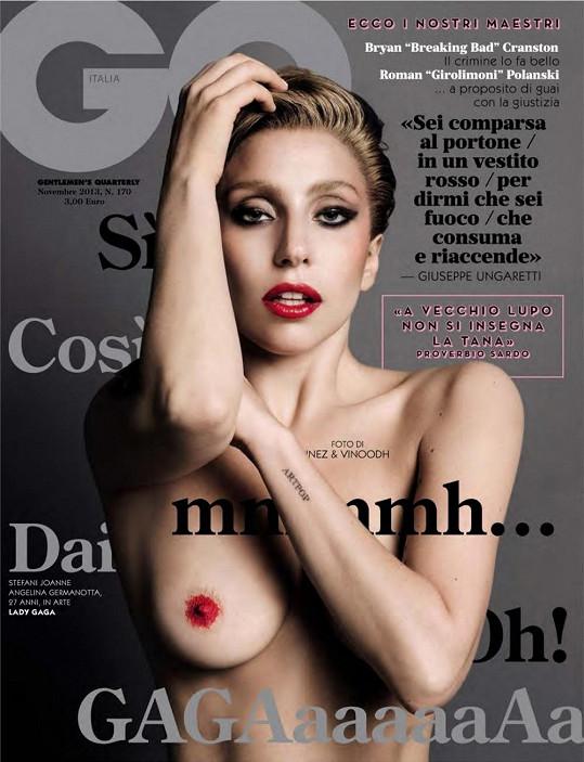Lady Gaga na odvážné titulce