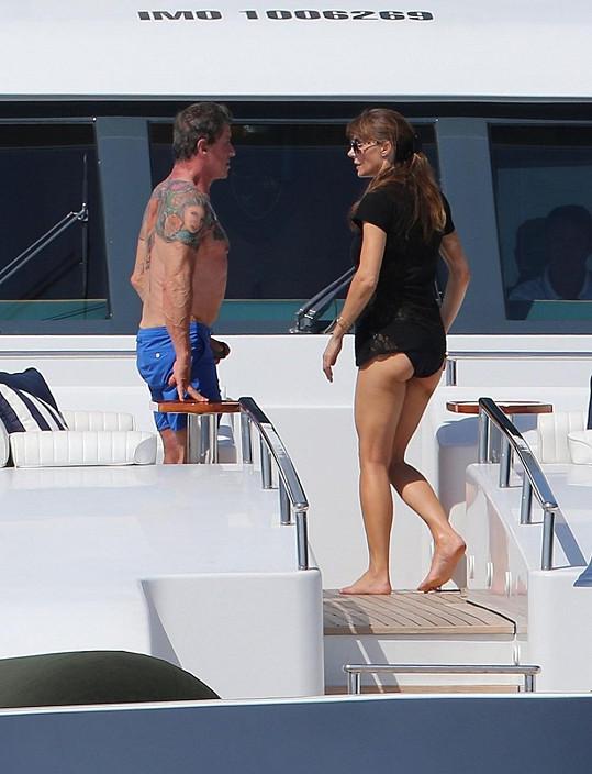 Stallone s manželkou Jennifer Flavin