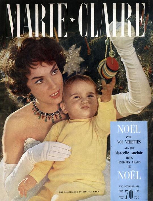 Gina Lollobrigida se synem.