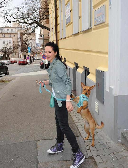 Sandra Nováková září štěstím.