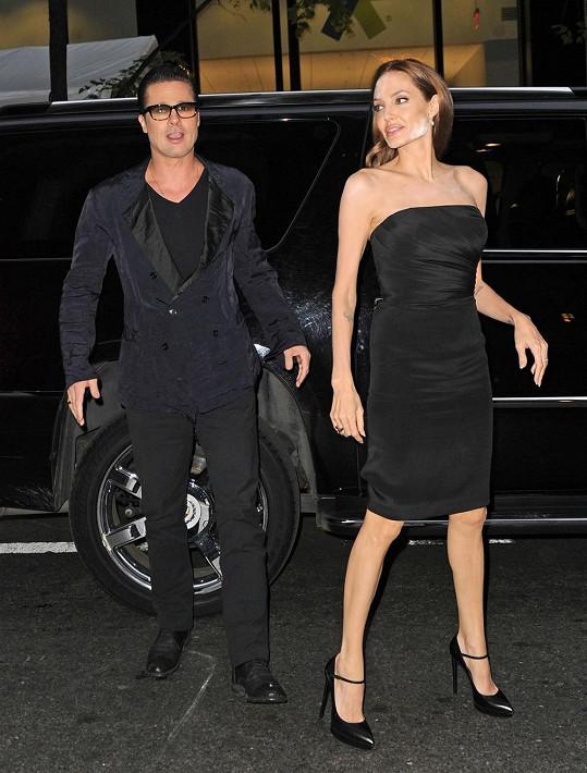 Angelina Jolie s Bradem Pittem dorazili na filmovou premiéru The Normal Heart.
