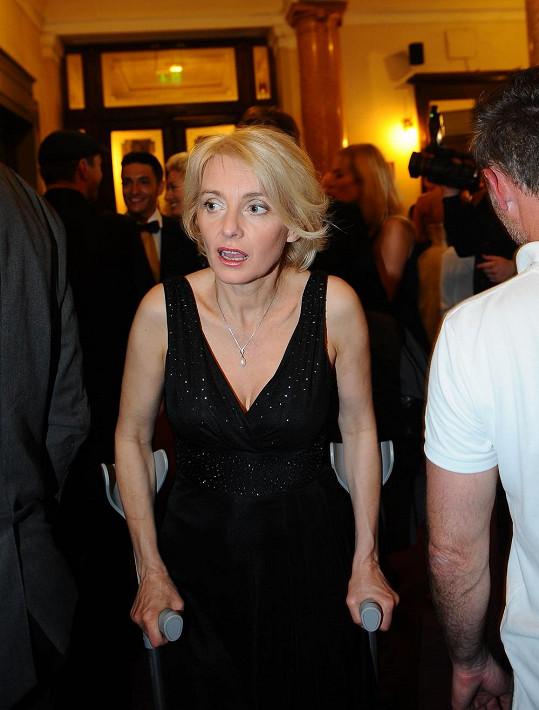 Veronika Žilková předávala cenu nejlepšímu herci.