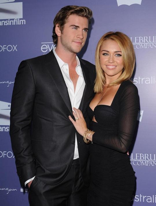 Liam a Miley v době, kdy mezi nimi láska kvetla naplno.