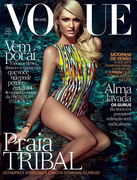 Modelka se pyšní rovnou dvěma verzemi brazilské obálky Vogue.
